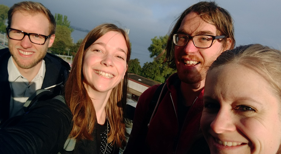 Für UID reisten Stefan, Martina, Martin und Katrin nach St. Gallen