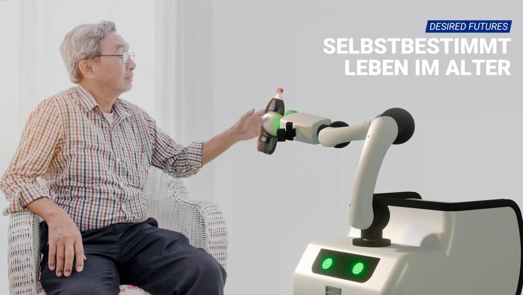 Im Robotik-Projekt SINA untersuchten wir, wie Assistenz-Roboter uns zukünftig zuhause unterstützen.