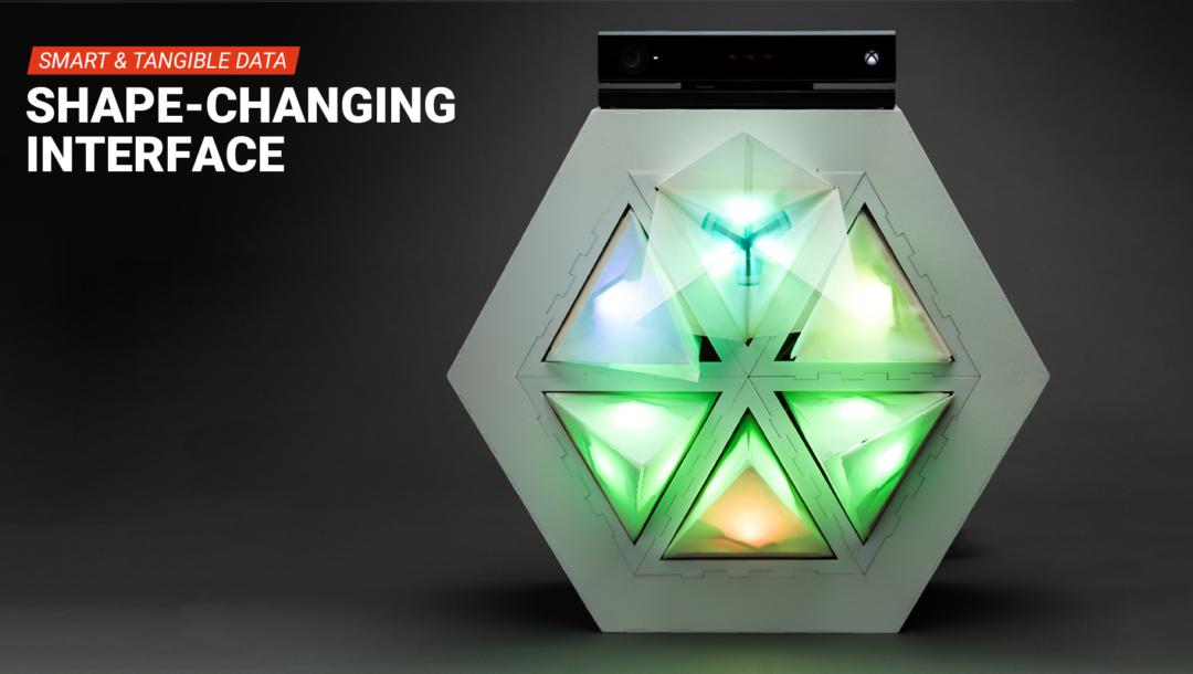 Im Projekt Shape-Changing Interface explorierten wir, wie sich Big Data erlebbar machen lässt.