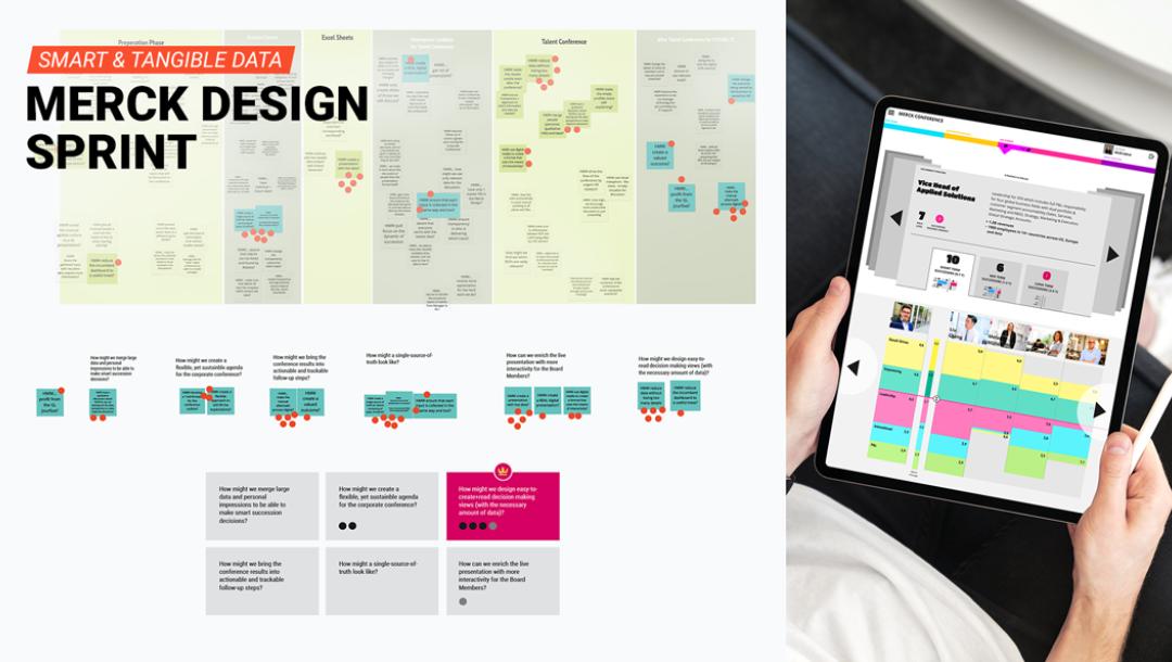 In einem Discovery Sprint erarbeiteten wir Ideen, um große Datenmengen im Recruitingprozess anschaulich zu visualisieren.