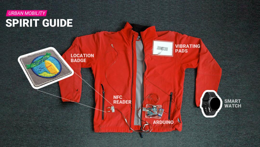Vernetzte Kleidungsstücke als Navigationshilfe, darauf setzt das Urban Mobility Projekt Spirit Guide.